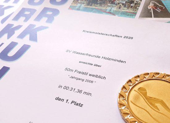 Wasserfreunde Holzminden Hameln Kreismeisterschaften 2020